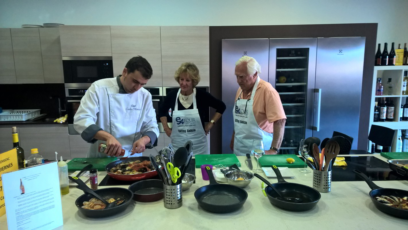 Galician Coastal Cooking Class and Boat Ride on Vigo Bay