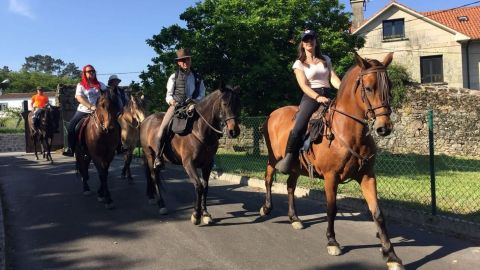 Horse Riding Along the French Trail of Camino de Santiago from O Cebreiro & Sarria