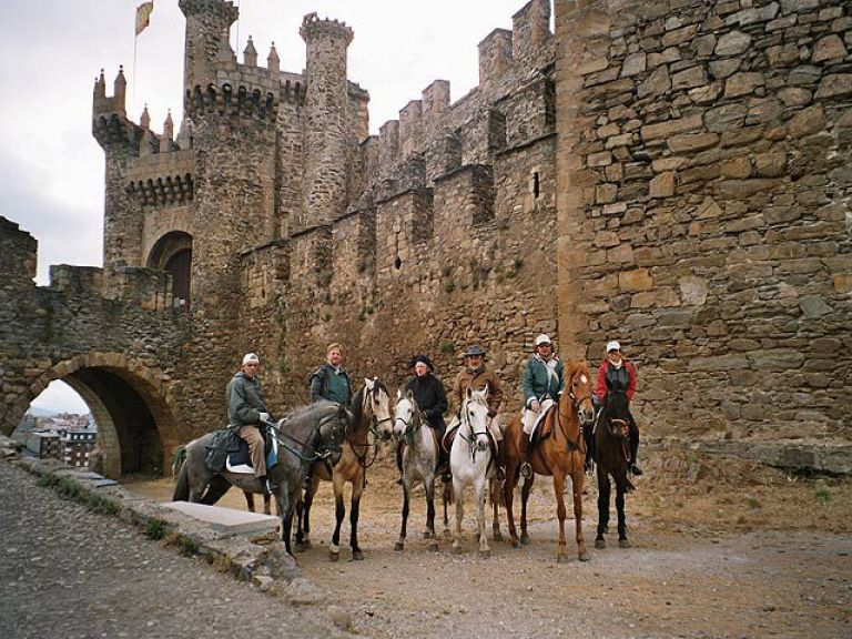 Horse Riding Along the French Trail of Camino de Santiago from Astorga