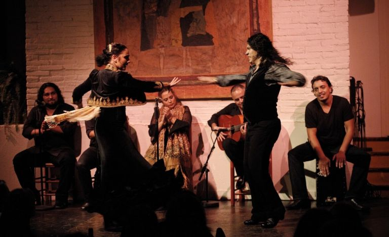 Barcelona by Night Panoramic City Tour and Live Flamenco Show with Dinner