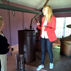 Andrea explaining about Aguardiente - Pazo de Se�oran Winery Tour