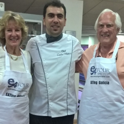 Photo with Chef Carlos - Galician Coastal Cooking Class on Vigo Bay