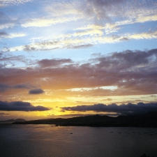 Sunset View of Vigo Bay and Cies Islands from La Guia, Vigo