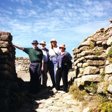 Group photo at Beach of Castro de Baroña Celtic Hill-fort