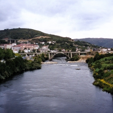 Bridges of Ourense over miño river