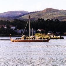 Replica Viking Drakkar Boat in Catoria