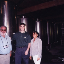 Photo with Guide at Winery of Bodega Lagar de Pintos, sub-zone Salnes of D.O. Rias Baixas