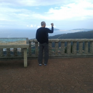 victor at mirador vantage point- Private Finisterre Day Tour from Santiago -