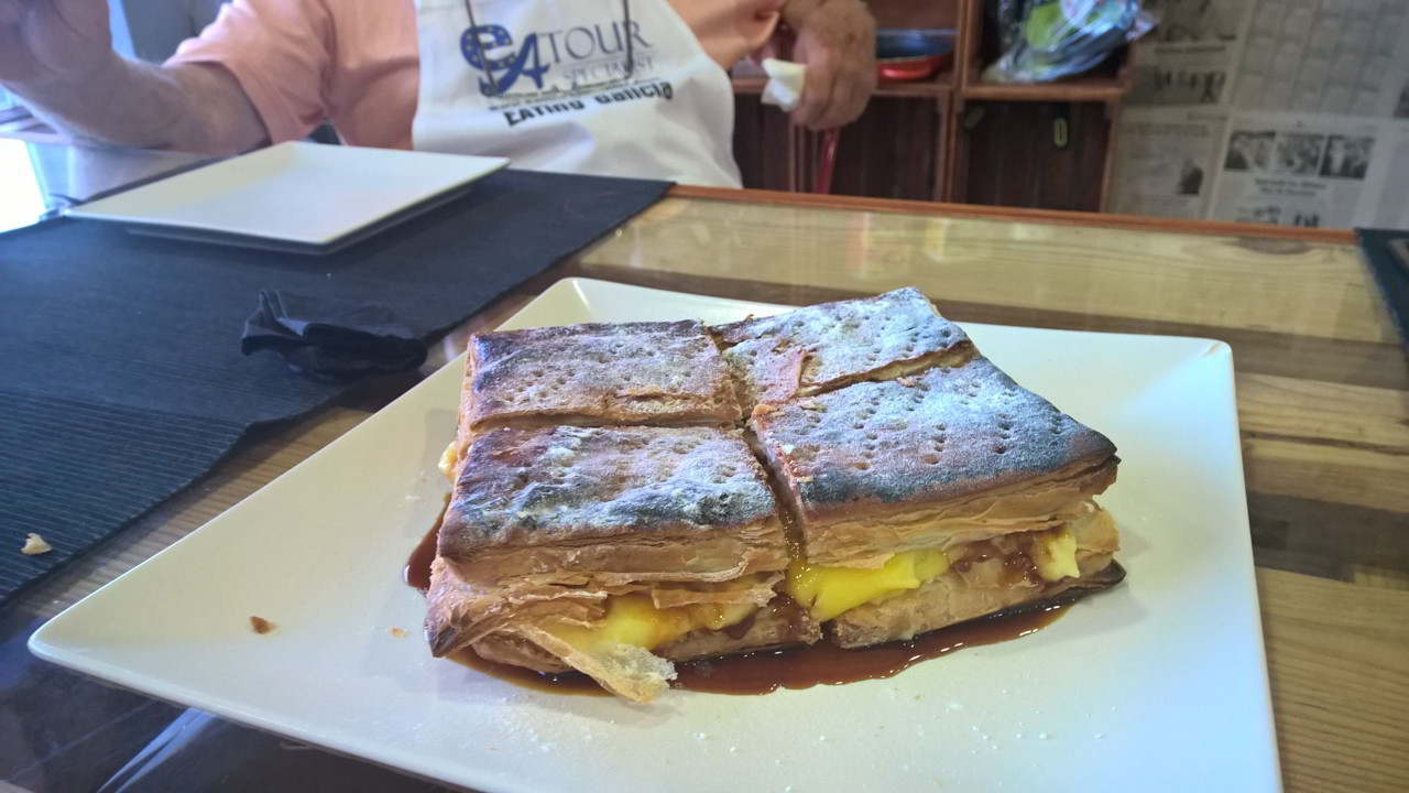 Dessert Pastry ready to serve - Galician Coastal Cooking Class on Vigo Bay