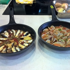 1st Course Dishes made - Galician Coastal Cooking Class on Vigo Bay