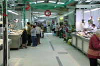 Fish stalls at Mercado de Progeso, Vigo