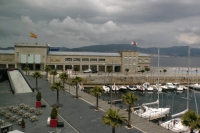 View of Cruise Port from A Laxe rooftop