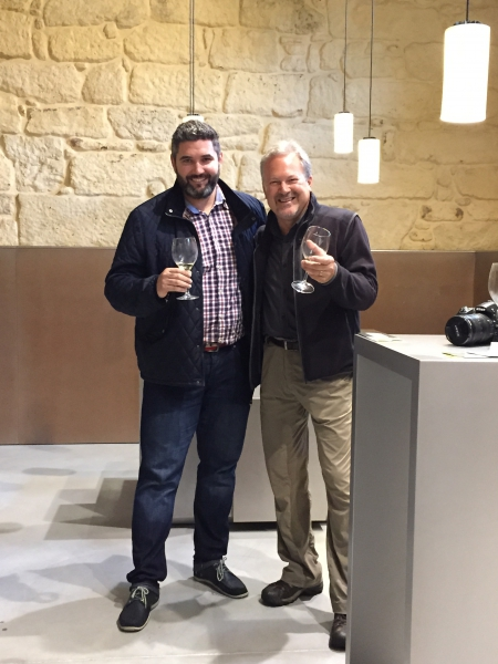 Pazo Baion - Sean and Brad commenting on VIP Group Albariño wine tasting