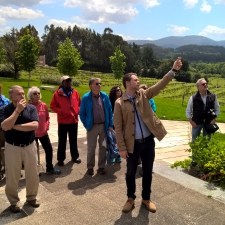 Pazo Baion Albarino Winery - Adrian explaining history of the pazo