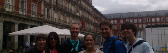 American Family on Madrid Private Walking Tour