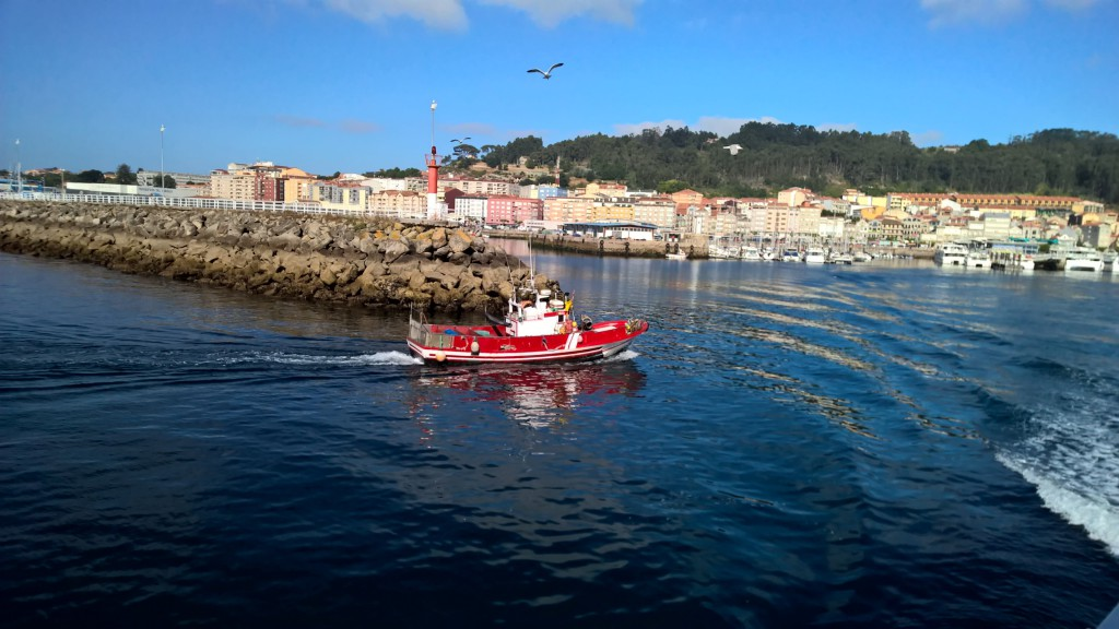Arriving in the Port of Cangas a fishing village of O Morrazo