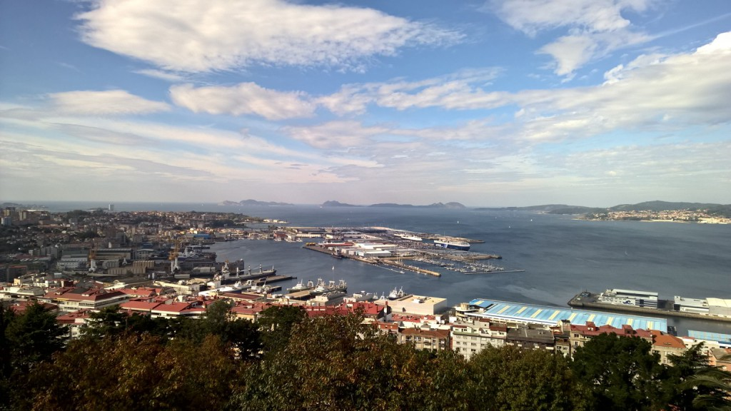 View of Vigo Port and City from Monte O Castro